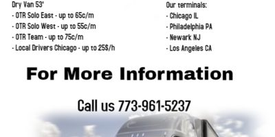 США: LOCAL CDL A DRIVES NEEDED